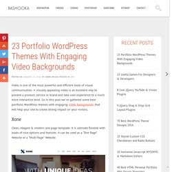 23 Portfolio Wordpress Themes With Engaging Video Backgrounds