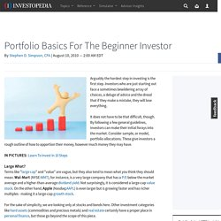 Portfolio Basics For The Beginner Investor