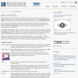 Anti-Portfolio - Bessemer Venture Partners