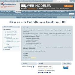 Cr er un site Portfolio avec Bootstrap - Partie III