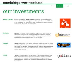 Portfolio | Cambridge West Ventures