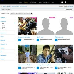 Online Portfolios of Professional Cinematographers, DOP, Cameramen