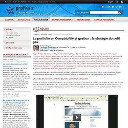 Le portfolio en Comptabilité et gestion : la stratégie du petit pas