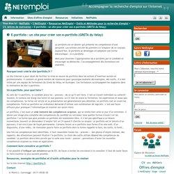 E-portfolio : un site pour créer son e-portfolio (GRETA du Velay)