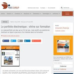 Le portfolio électronique : vitrine sur formation