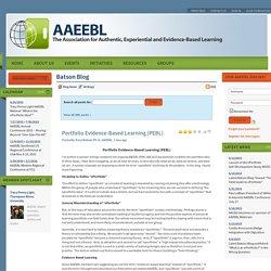 Portfolio Evidence-Based Learning (PEBL)