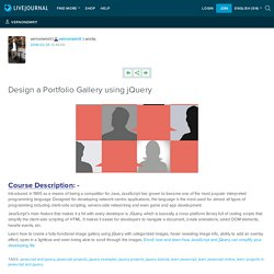 Design a Portfolio Gallery using jQuery: vernonemrit