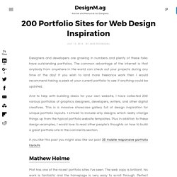 200 Portfolio Sites for Web Design Inspiration