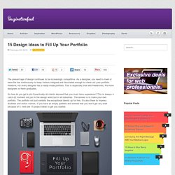 15 Design Ideas to Fill Up Your Portfolio