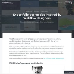 10 portfolio design tips inspired by Webflow designers