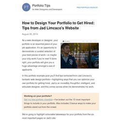 How to design your portfolio to get hired - a study of JadLimcaco.com – Barry Clark - How To Get Hired as a Web Developer