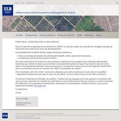 IGEAT: Portfolio - Logistique de la recherche