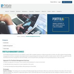Portfolio Management Services in India