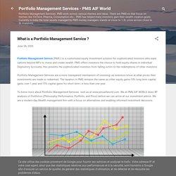 What is a Portfolio Management Service ?