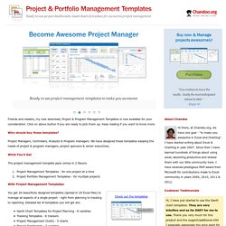 Excel Project Management Templates - Download Now