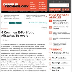 4 Common E-Portfolio Mistakes to Avoid