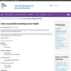 Créer un portfolio numérique avec Padlet
