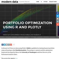 Portfolio Optimization using R and Plotly