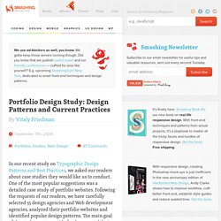 Portfolio Design Study: Design Patterns and Current Practices [pas hyper clair mais à relire]
