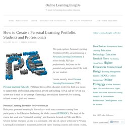 How to Create a Personal Learning Portfolio: Students and Professionals