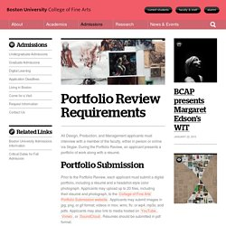 Portfolio Review Requirements