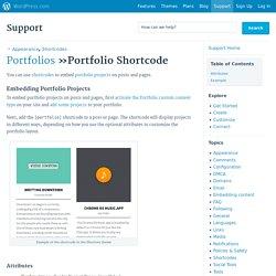 Portfolio Shortcode