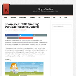 Showcase Of 50 Stunning Portfolio Website Designs | Spyre Studio