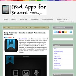 Easy Portfolio – Create Student Portfolios on Your iPad