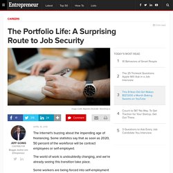 The Portfolio Life: A Surprising Route to Job Security