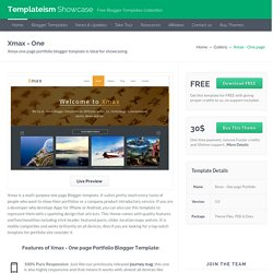 Xmax - One page Portfolio Blogger Template