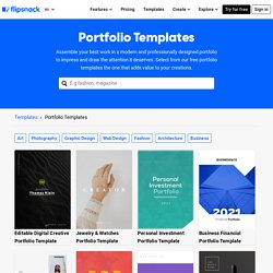 Free Portfolio Templates To Customize Online