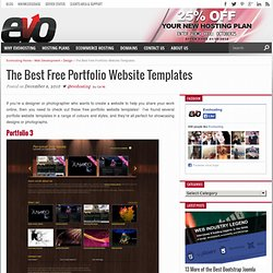 18 of the Best Free Portfolio Website Templates – UK Web Hosting – Uk Web Design Blog | Evohosting