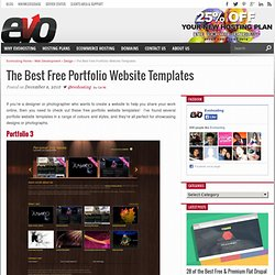 18 of the Best Free Portfolio Website Templates – UK Web Hosting – Uk Web Design Blog |Evohosting