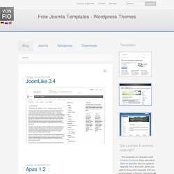 Blog, Free Joomla Templates & Wordpress Themes \| vonFio