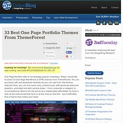 33 Best One Page Portfolio Themes From ThemeForest at DzineBlog