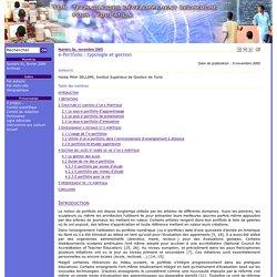 e-Portfolio : typologie et gestion