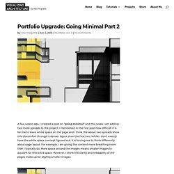 Portfolio Upgrade: Going Minimal Part 2