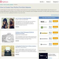 How to Make a Portfolio Website: Best Online Portfolio Builders