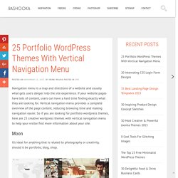 25 Portfolio Wordpress Themes With Vertical Navigation Menu