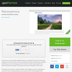 Free Portfolio WordPress Theme - Panoramica