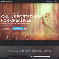 Portfoliobox - Your online portfolio website