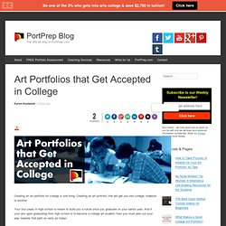 Art Portfolios that Get Accepted in College