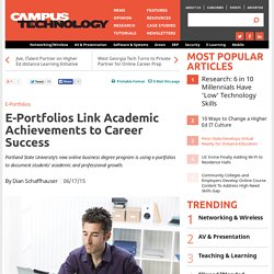 E-Portfolios Link Academic Achievements to Career Success