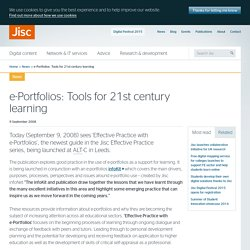 e-Portfolios: Tools for 21st century learning