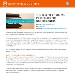 The Benefit of Digital Portfolios for Non-Designers - Brooklyn Resume Studio - New York City Resume Writer & Career Consultant