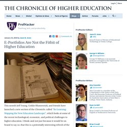 E-Portfolios Are Not the Fitbit of Higher Education