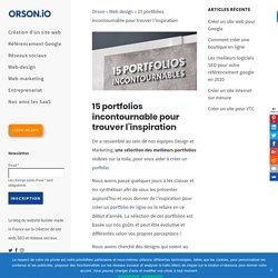 Portfolios : trouver l'inspiration à travers des exemples de portfolios
