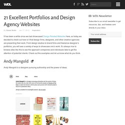 21 Excellent Portfolios and Design Agency Websites