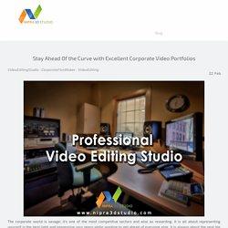 Best Video Editing Studio To Create Video Portfolios