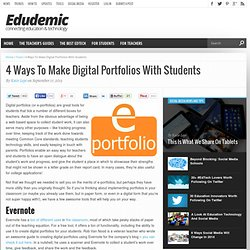4 Ways To Make Digital Portfolios With Students